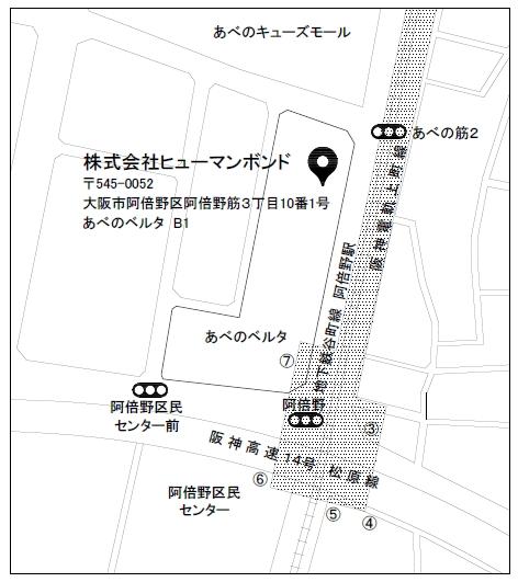 株式会社ヒューマンボンド地図